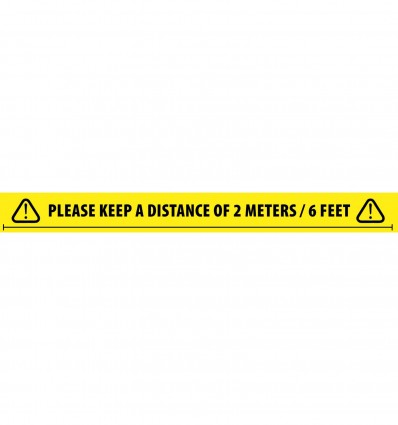 Social Distancing Tape 2 Meters / 6 Feet English Adam Hall Accessories 58068 ENG