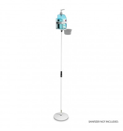 Height-adjustable disinfectant stand with universal holder White Gravity MS 23 DIS 01 W
