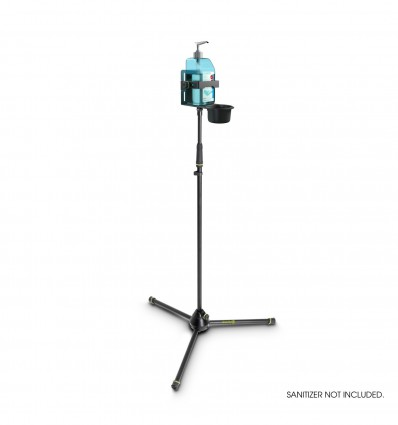Height-adjustable Disinfectant Stand Tripod with universal Holder Black Gravity MS 4321 DIS 01 B
