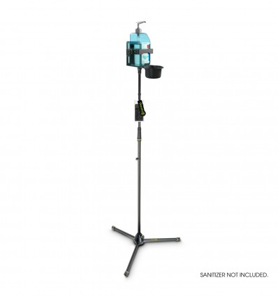 Height-adjustable disinfectant Stand tripod with universal Holder Black Gravity MS 43 DIS 01 B