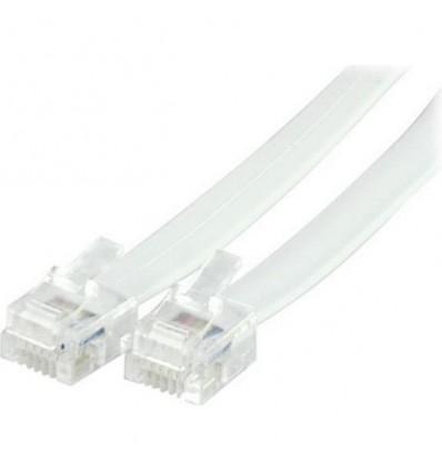 DELTACO telephone patch cable RJ12/6C 2.0M