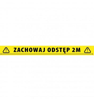 Social Distancing Tape 2 Meters Polish Adam Hall Accessories 58068 POL